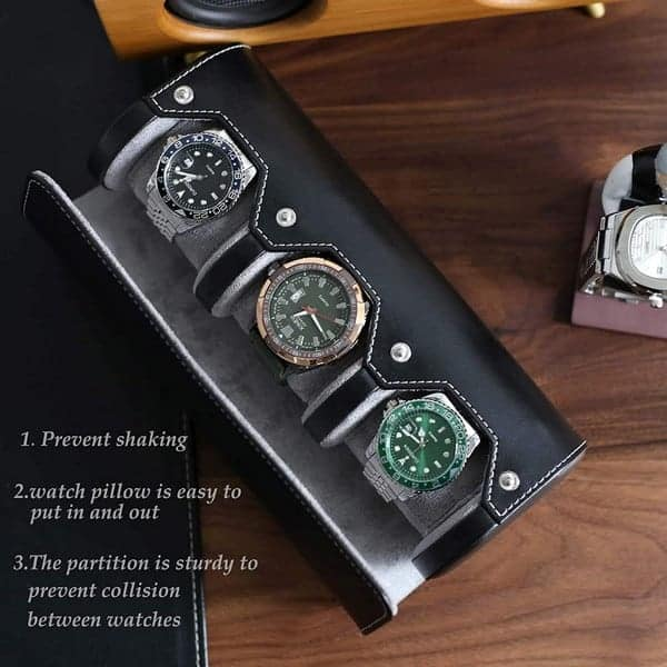 Besforu Watch Box Organizer for Mens Watch case Travel roll Portable