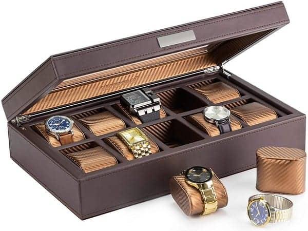 HOUNDSBAY Mariner Oversize Watch Box Display Case Luxury Carbon Fiber
