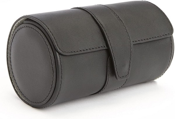 Royce Leather 5 Watch Travel Roll with Suede Lined Interior and Genuine Leather Exterior