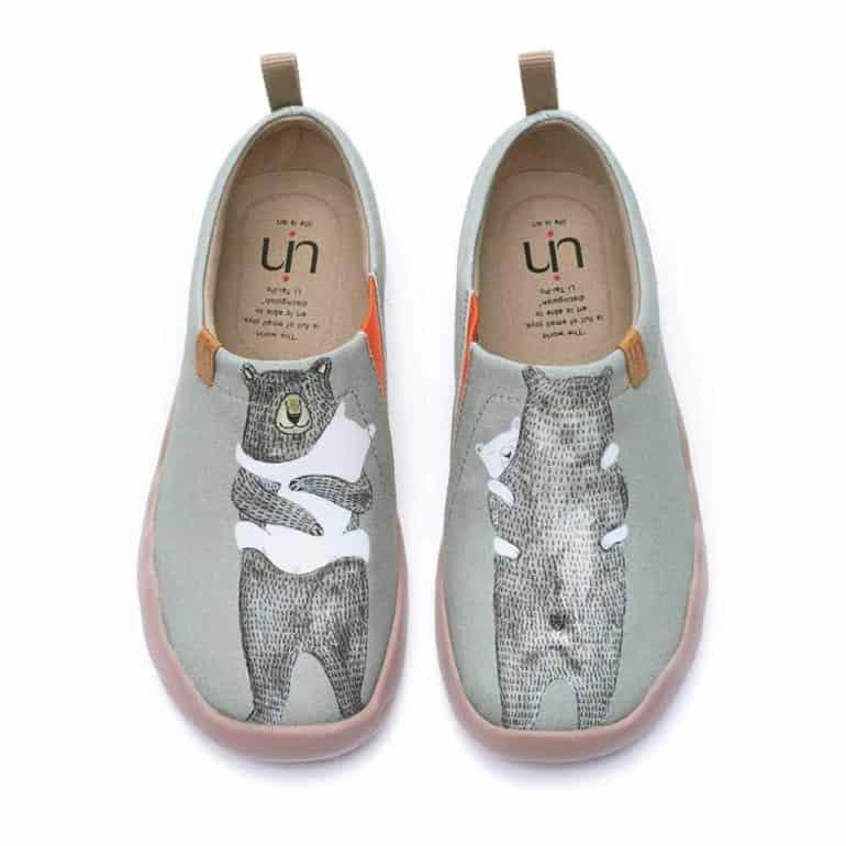 uin Women's Slip Ons Canvas Lightweight Flats Sneakers